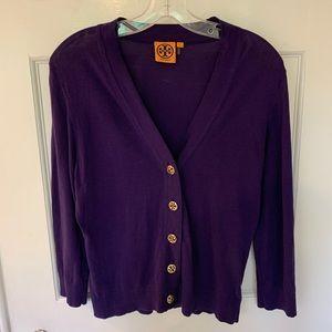 Tory Burch Purple Cardigan